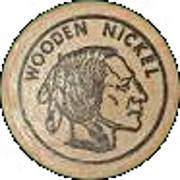 Wooden Nickel - Indian Store (Abeline, Kansas) – reverse