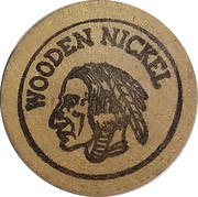 Wooden Nickel - Haack's Antiques (Lotus, Calif.) – reverse