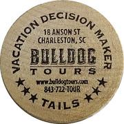 Wooden Nickel - Bulldog Tours – reverse