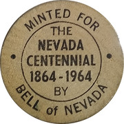 Wooden Nickel - The Nevada Centennial – obverse