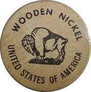 Wooden Nickel - The Nevada Centennial – reverse