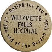 Wooden Nickel - Willamette Falls Hospital – obverse