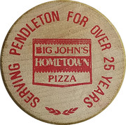 Wooden Nickel - Big John's Hometown Pizza – obverse