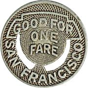1 Fare - Market St. Ry. Co. (San Francisco, California) – reverse