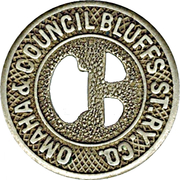 1 City Fare - Omaha & Council Bluffs ST. RY. Co. (Omaha, Nebraska) – obverse