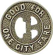 1 City Fare - Omaha & Council Bluffs ST. RY. Co. (Omaha, Nebraska) – reverse