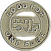 1 Fare - Muscatine Coach Lines (Muscatine, Iowa) – reverse