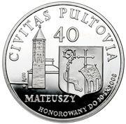 40 Mateuszy - Pułtusk – obverse