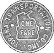 1 Fare - Topeka Transportation Co. Inc. (Topeka, Kansas) – reverse