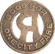 1 Fare - Rockford Public Service Co. (Rockford, Illinois) – reverse
