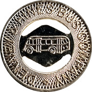 1 Fare - Denney & Hines Bus Company (Muncie, Indiana) – obverse