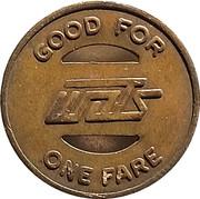 1 Fare - Wausau Area Transit System, Inc. (Wausau,  Wisconsin) – reverse