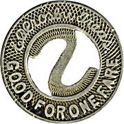 1 Fare - The St. Paul City Ry.Co. (St. Paul, MN) – reverse