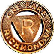 1 Fare - Virginia Transit Co. (Richmond, Virginia) – reverse