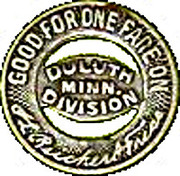 1 Fare - Duluth Railway Co. – reverse