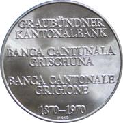 Medallion - 100 Year Anniv. Graubünden Kanton National Bank – obverse