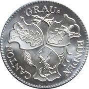 Medallion - 100 Year Anniv. Graubünden Kanton National Bank – reverse