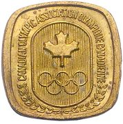 Token - Canadian Olympic Association (Boxing) – reverse