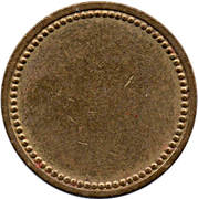 Coffee Machine Token (Blank with 76 beads; 21 mm) – obverse