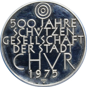 Token - 500 Years Protection Society for the City of Chur – reverse