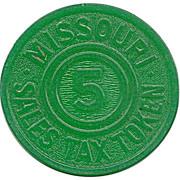 5 Mills - Sales Tax Token (Missouri) – reverse