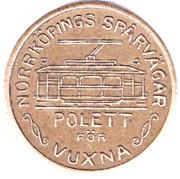Tram Token - Norrköpings Spårvägar (POLETT; Norrkoping) – obverse