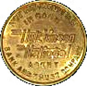 Parking Token -  Hutchinson National Agent Bank and Trust Company – obverse