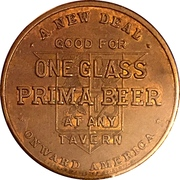 1 Glass Beer - Prima Brewing Company (Chicago, IL) – reverse