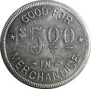 5 Dollars - C. Blocker (St. Benedict, Kansas) – reverse