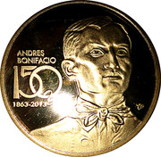 Token - Andres Bonifacio – obverse