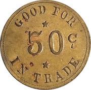 50 Cents - Aden Bros. Gen. Mdse. – reverse