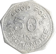 50 Cents - S. H. Jackson (Unionville, Missouri) – reverse