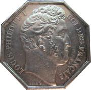 Token - Louis-Philippe I (Société libre d'agriculture, des Sciences, des Arts et des Belles-Lettres) – obverse