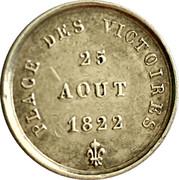 Token - Louis XVIII (August 25, 1822) – reverse