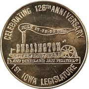 50 Cents - Burlington Steamboat Days ( Burlington,  Iowa) – obverse