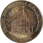 50 Cents - Greater Cuyahoga Falls Sesquicentennial (Cuyahoga Falls, Ohio) – obverse