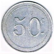 50 Centimes - Cercle du 27e (Tirailleurs Algériens) – reverse