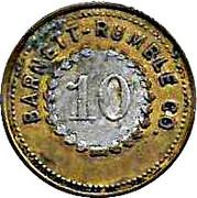 10 Cents - Barnett - Rumble Co. – obverse