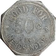 50 Cents - Francis & Riegel – reverse