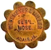 25 Cents - Wedemeyer & Miller (Adair, Iowa) – obverse
