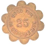 25 Cents - Wedemeyer & Miller (Adair, Iowa) – reverse