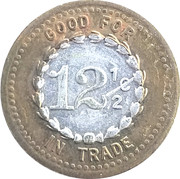 12 ½ Cents - Mint Cigar Store (Great Falls, Montana) – reverse