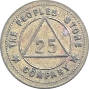 25 Cents - The Peoples Store Company – obverse