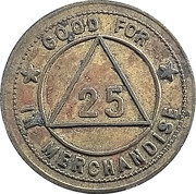 25 Cents - The Peoples Store Company -  reverse