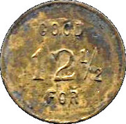 12 ½ Cents - Pete's Saloon – reverse