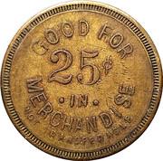 25 Cents - Wm J. Schwartz – reverse