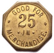 25 Cents - John A. Levin – reverse