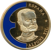 Token - Europe (Spain - Alfons XII) – obverse