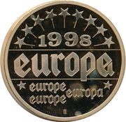 Token - Europe (France - Jacques Chirac) – reverse