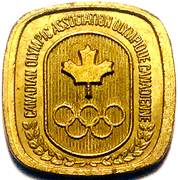 Token - Canadian Olympic Association (Fencing) – reverse